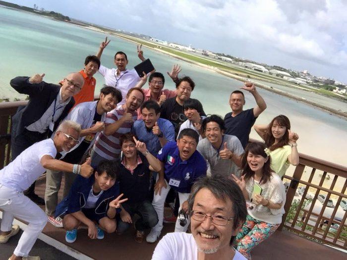エクスマ67期沖縄塾の集合写真。