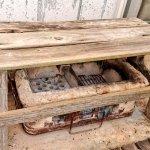 木製ベンチ リニューアル後