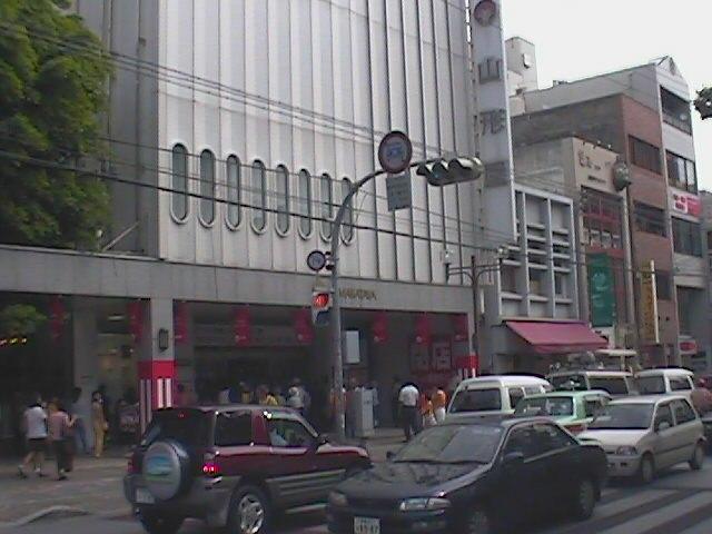 沖縄山形屋閉店の日 正面玄関 19990831