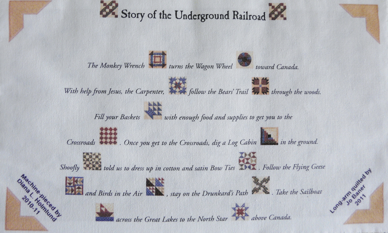 Underground Railroad Quilt Label