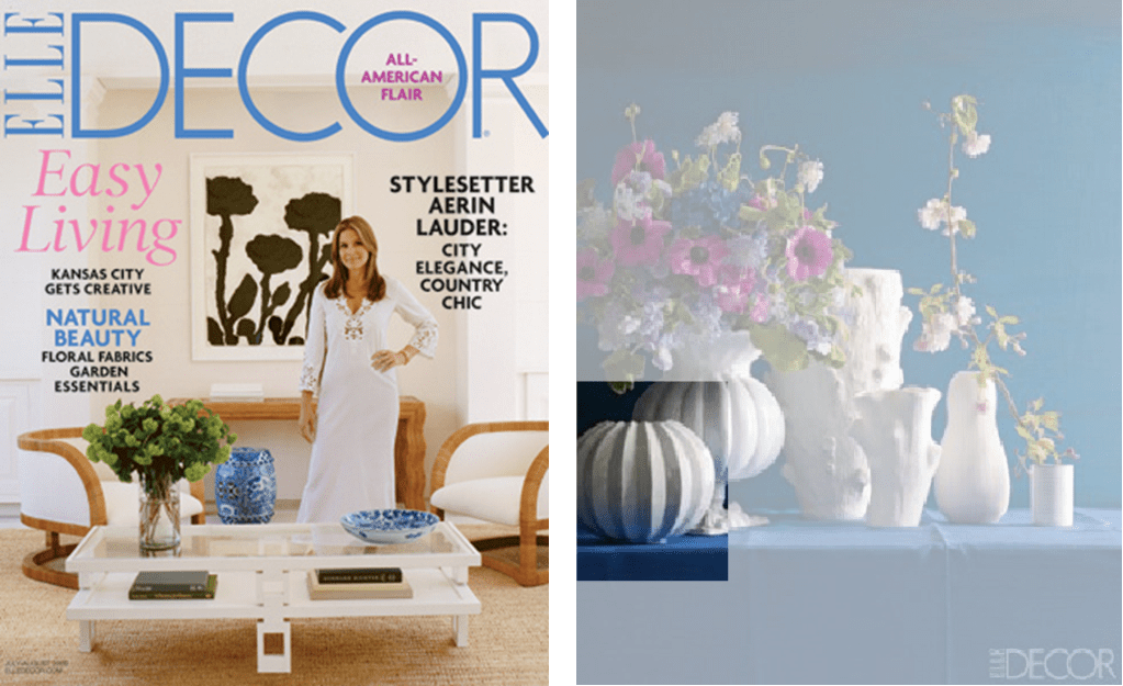 Incanto Collection featured in Elle Decor