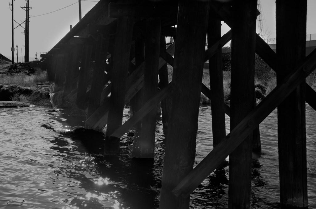 Stream Under Railroad Trestle