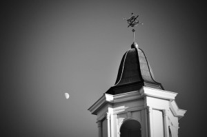 Moon over Bell Tower