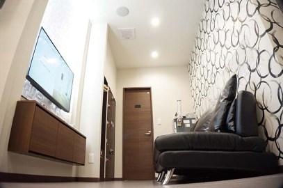 ウェイティングルームもプライベート感のある空間。