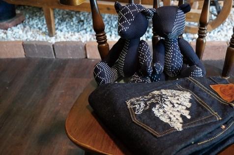 盆栽刺繍や刺子切替などの別注コラボアイテムも 取り扱う