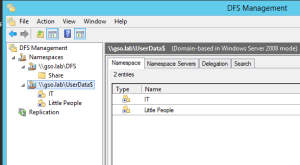 Windows 2012 DFS - Folders - JBcomp com