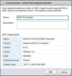 Upgrade ESXi 6 0 to ESXi 6 5 via VMware Update Manager