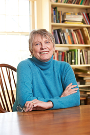Lois Lowry, author of The Giver, at her home in Cambridge, MA