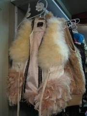 fun fur and feather vest