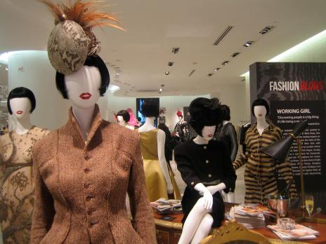 Assorted looks from the Fashion Blows exhibit, Hudson's Bay on Queen street, October 30, 2014