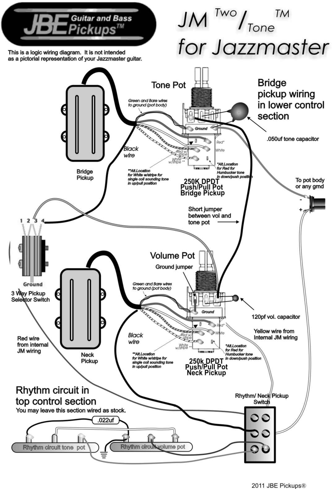 Two Humbucker Wiring Diagram