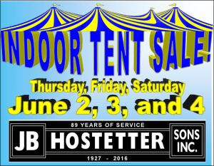 tent sale for JBHostetter June 2016