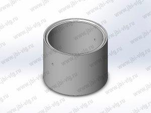 Кольцо для колодца КС 10.9 железобетонное с замком по ГОСТ 8020-2016