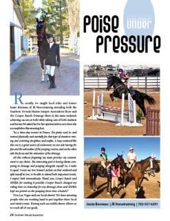 Jessie Bonneau--SN Equestrian Magazine