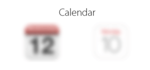Blurred calendar icons.