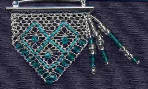 Silver Pin Design for Lace magazine Torchon
