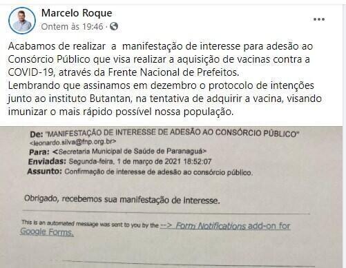 Paranaguá e Guaratuba vão integrar consórcio de compras de vacinas 2