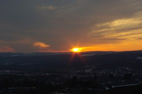 Sunset seen from Libe Slope