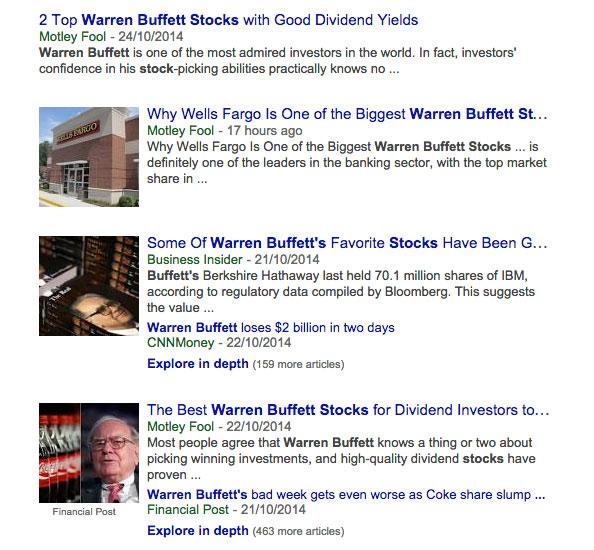 warren buffett stocks news articles