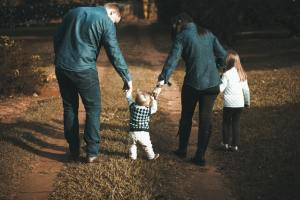 A family with small kids