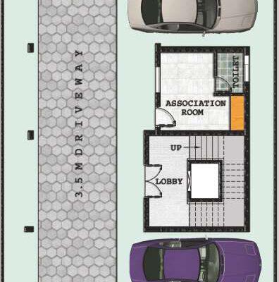 Stilt floor plan