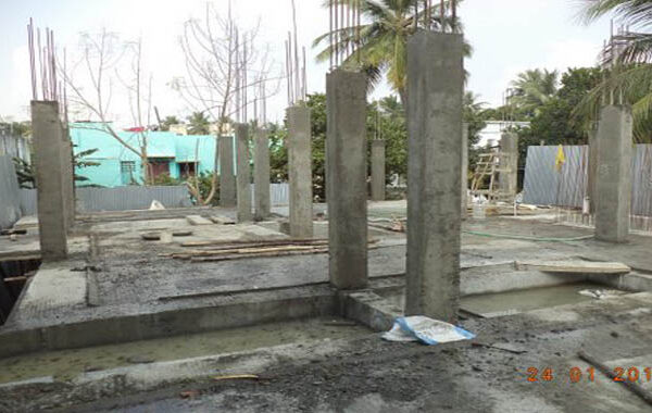 MANAS - Stilt floor roof slab concrete