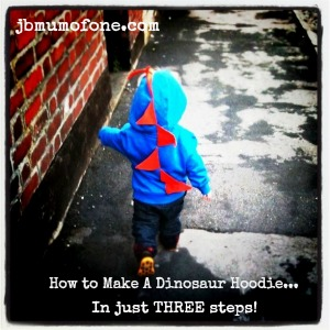 How to make a dinosaur-hoodie in just three easy steps