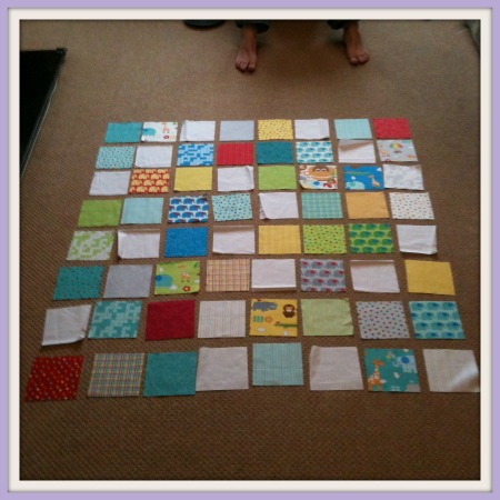 Laying out quilt