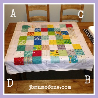 Quilt longest diagonals first