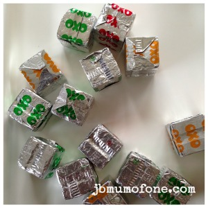 Tip out OXO cubes