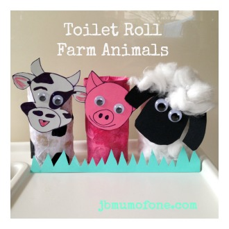 Toilet Roll Farm Animals, toddler craft