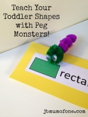 Teach your toddler shapes!