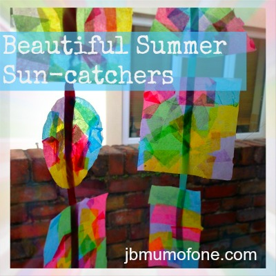 Toddler craft, sun-catchers