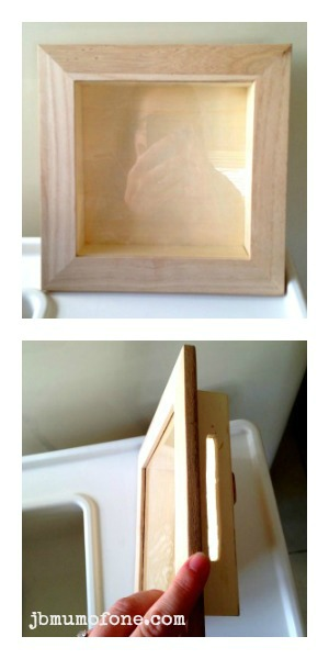 Create slit in shadow box