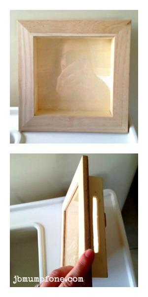 Create slit in shadow box
