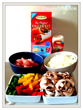 Discovery Fajita Ingredients