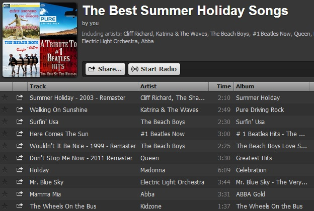 Best Summer Holiday Songs