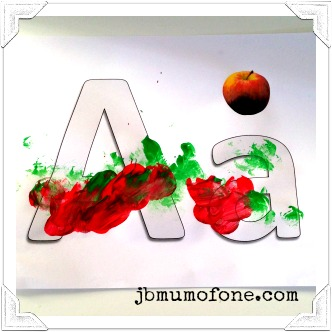 A is for Apple: Learning Letters with Marshmallow Painting!