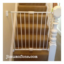 Put up stair gates