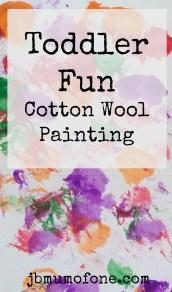 Toddler Fun: Cotton Wool Painting