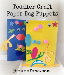 jbmumofone.com Toddler Craft, Paper Bag Puppets