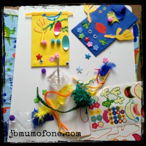 materials for making paper bag puppets for toddler craft