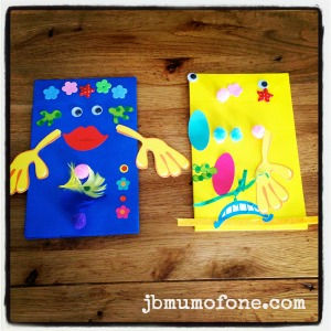 Toddler Craft: Paper Bag Puppets
