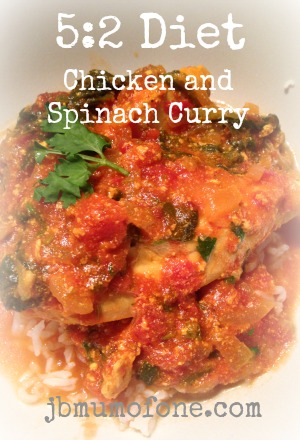 5:2 Diet: Delicious Chicken and Spinach Curry