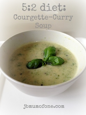 5:2 diet Courgette Curry Soup, 127 calories