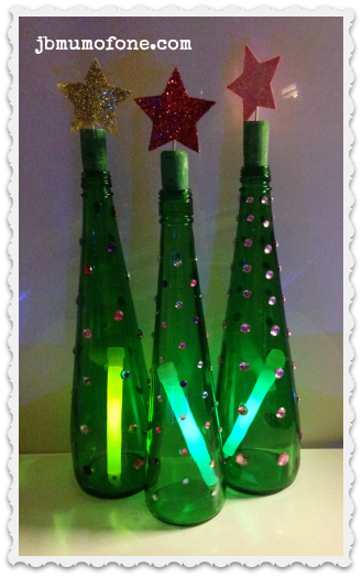 Green Bottle Xmas Trees