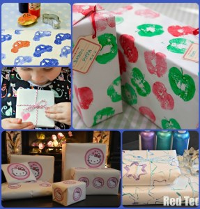 Homemade gift wrap