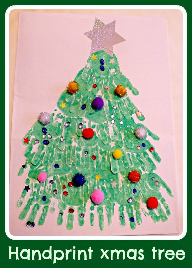Handprint-xmas-tree: Let Kids Be Kids