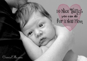 Carrie Elle: Ten nice things to do for a new Mom