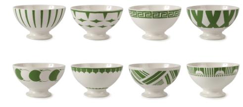 30's Deco bowls